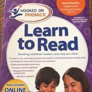 Hooked On Phonics Levels 3-4 (ages 5-6)